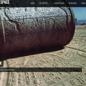 Sculpted Space web site screenshot